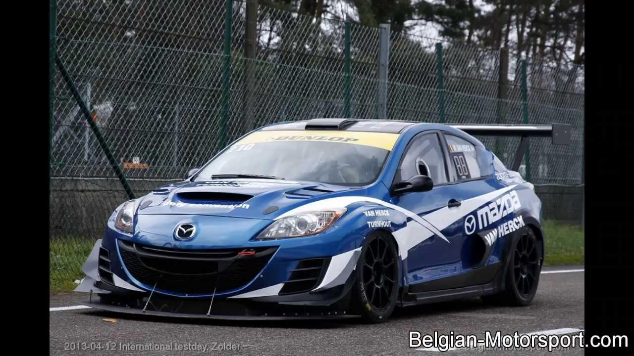 Mazda Speed 3 >> Mazda 3 sedan 20B racecar - 2013 test zolder - YouTube