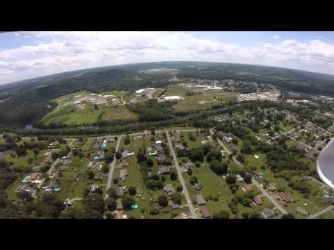Drone flight over curwensville pa