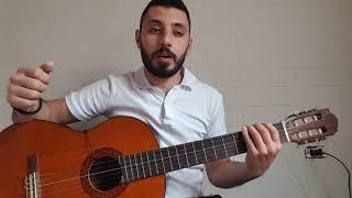 تعليم مقام النهاوند على الجيتار مع أمثلة اغاني