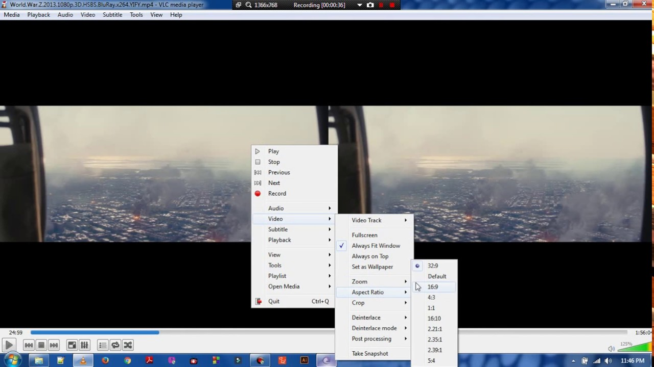 Watch 3D movies on your PCs avoiding the Double screen