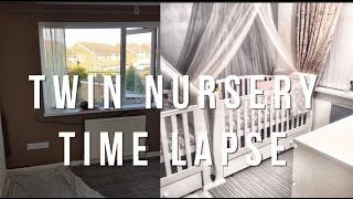 TWIN NURSERY 2017 | TIME LAPSE | Dvynuku kambario irengimas