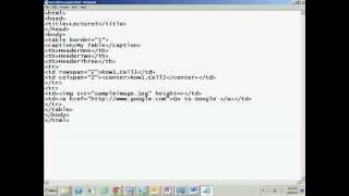 Html Tutorial In Hindi 3 (table Tag And Its Attributes)
