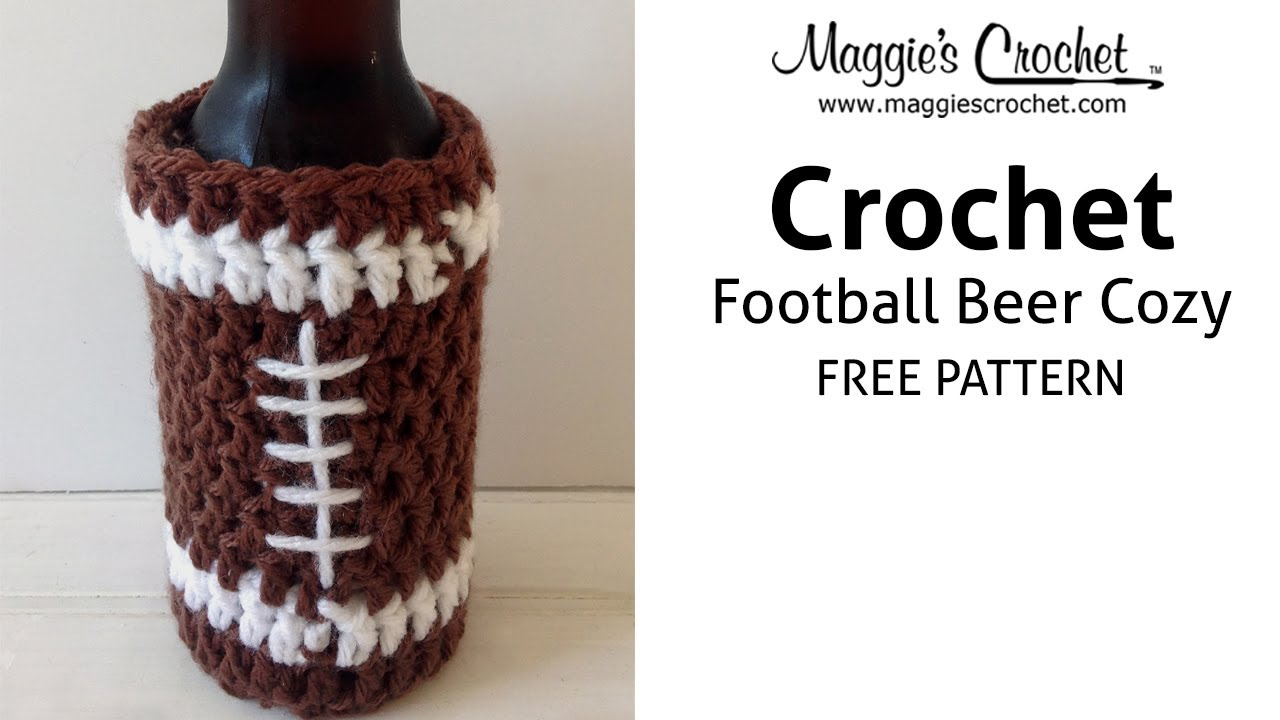 Football Beer Cozy Free Crochet Pattern - Right Handed - YouTube