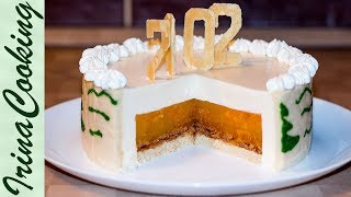 НОВОГОДНИЙ ТОРТ - Шампанское и мандарины 🍰 Tangerine Champagne Mousse Cakes Recipe ✧ Ирина Кукинг