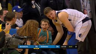 Luka Doncic Goes Out Of His Way to Check Up On Fans And Cameramen After Bad Collisions