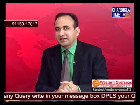 Telephonic Interactive TV Show for Study Visa by Mr. Pardeep Balyan