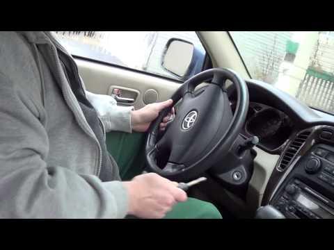 Как разблокировать руль в автомобиле