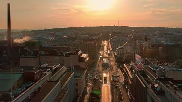 Drone video 4K / Tampere Finland / Sunset 2020 mp4