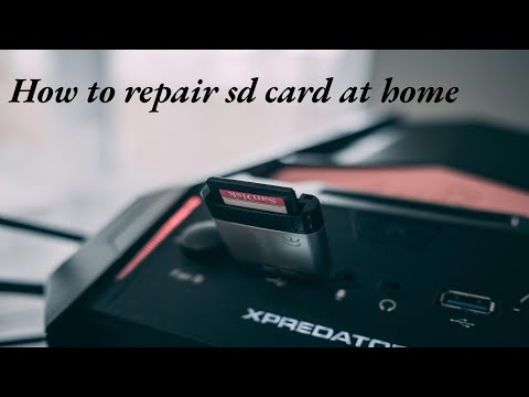 How To Repair Sd Card At Home    Repair Memory Card With Pc    (100% Working)