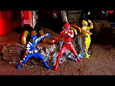 Abaranger/Dino Thunder Display, Ranger Key Chest, Robo Knight 4inch Figure!