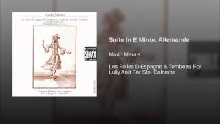 Suite In E Minor. Allemande