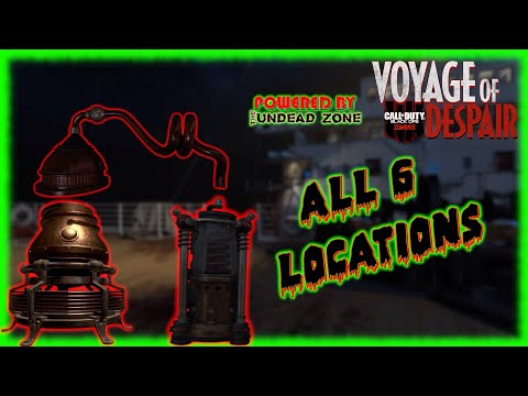 """Voyage Of Despair"" ALL 6 PART LOCATIONS For The ""Distillation Kit"" (COD: Black Ops 4 Zombies)"