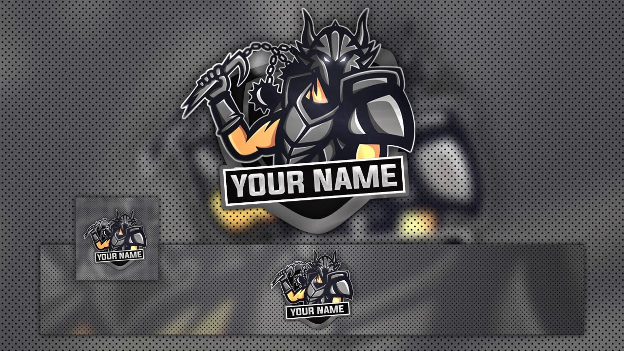 FREE GAMING LOGO w Banner Template   YouTube FREE GAMING LOGO w Banner Template