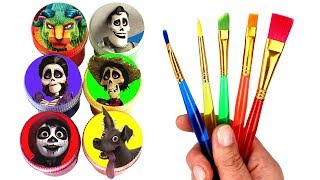 Disney Coco Drawing &amp Painting with Surprise Toys Miguel Dante Hector Imelda Mama Coco ...