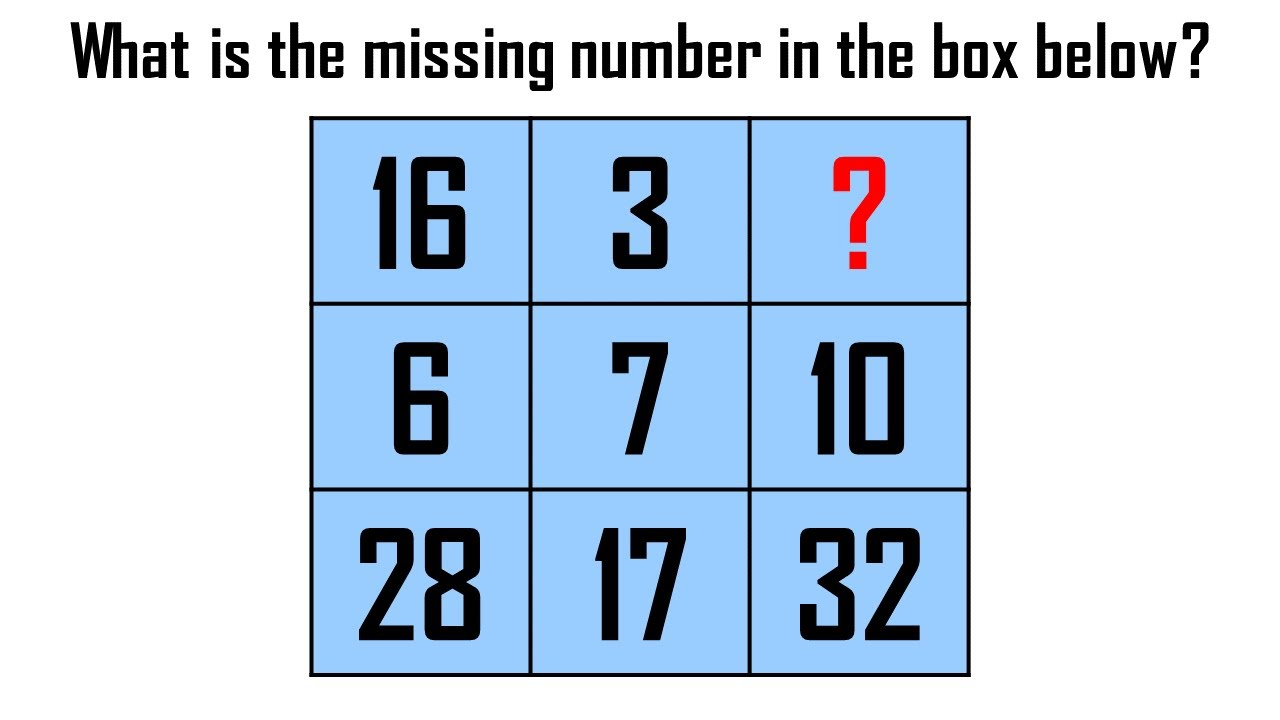 Math puzzle in the box with the answer No.227