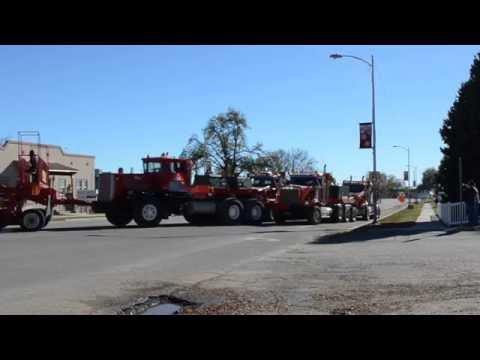 Utah's largest truck load making the turn in Blanding Utah