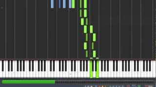 [How to Play] Mozart - Piano Sonata 12 - KV 332 - 2nd Movement [Synthesia Piano Tutorial]