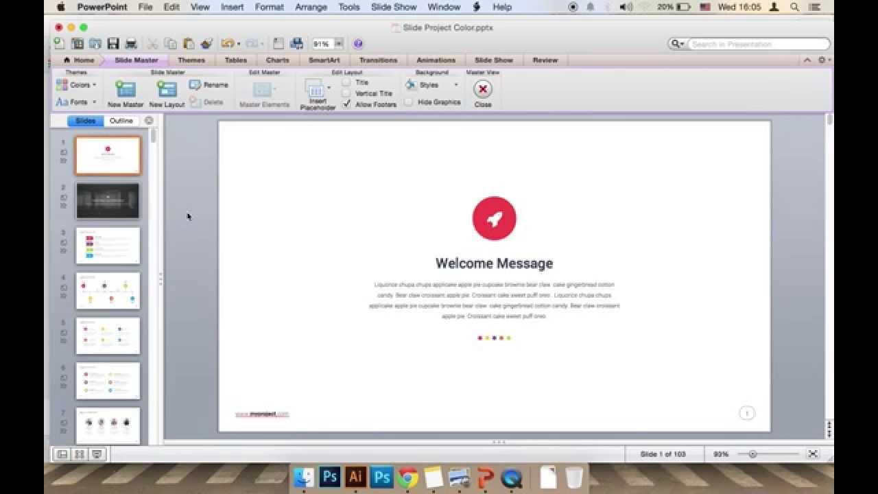 Slidepro powerpoint edit footer tutorial youtube toneelgroepblik Gallery