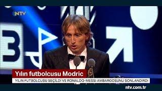 Yılın futbolcusu Modric... (Ronaldo-Messii ambargosunu sonlandırdı)