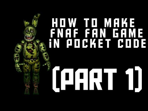 FNAF FAN GAME POCKET CODE TUTORIAL || Pocket Code (Part 1) thumbnail