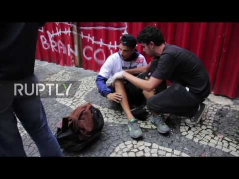 Brazil: Clashes erupt at anti-Temer protest in Rio