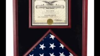Military Flag Shadow Box, Military Flag Display Cases, Flag And Certificate Holders