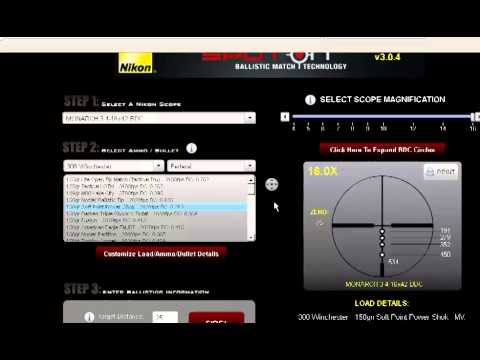 How To Use The Nikon BDC Reticle and SpotOn Software