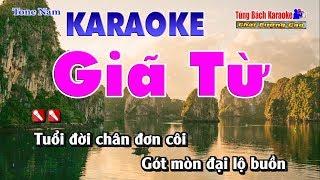 Giã Từ Karaoke Tone Nam - Nhạc Sống Tùng Bách