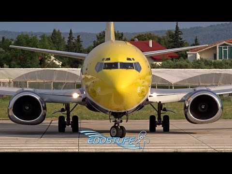 The Friendly Shaka Pilot - Europe Airpost Boeing 737 - Takeoff from Split airport LDSP/SPU