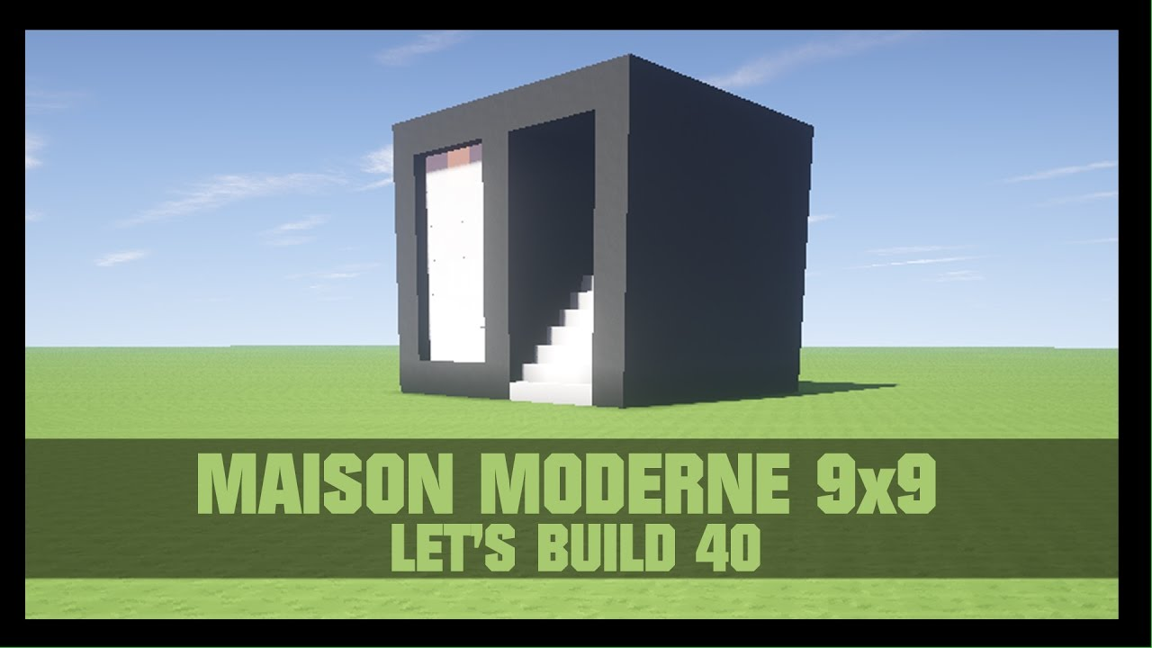 tuto comment construire une maison moderne 9x9 dans minecraft youtube. Black Bedroom Furniture Sets. Home Design Ideas