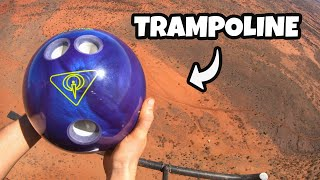 BOWLING BALL Vs. TRAMPOLINE from 1000 FEET!