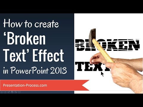 Create Broken Text Effect in PowerPoint