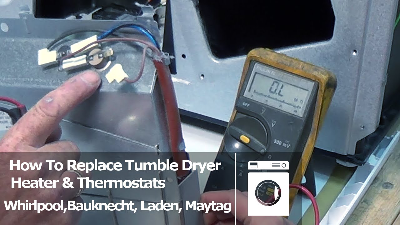 How to test heater thermostats ntc sensors Tumble Dryer Whirlpool Bauknecht Laden  Maytag