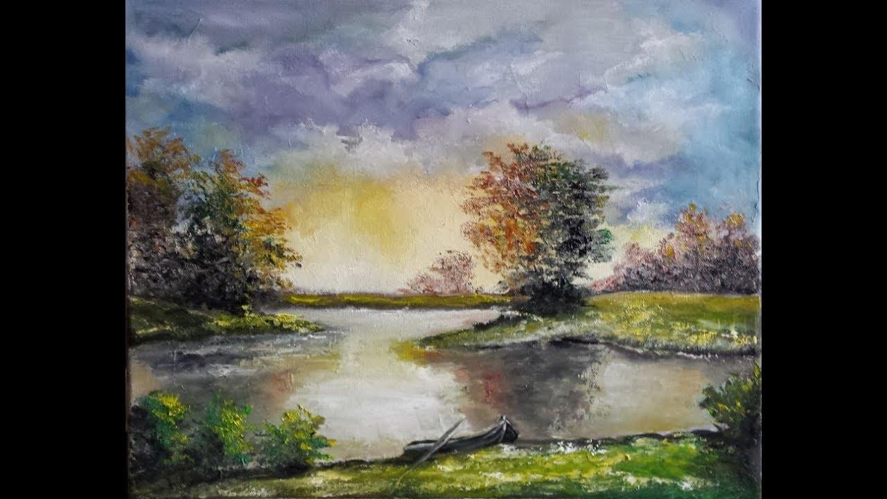 Landschap Schilderen Met Olieverf Landscape Oil Painting