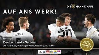 Die Mannschaft in Wolfsburg: Sei dabei