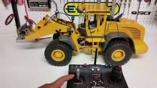 CSMI : RC Wheel Loader start up with Futaba FX20 with 3d joystick. Function test and modifications