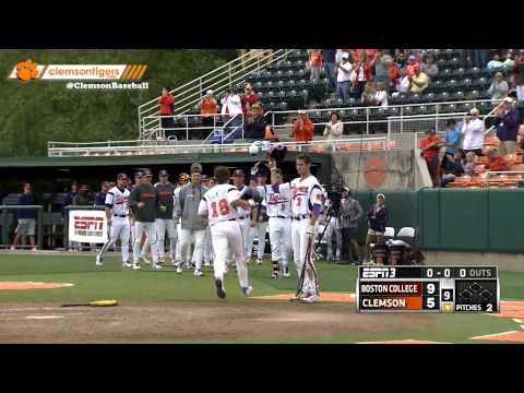 Clemson Baseball vs. Boston College Game 3 Highlights 5-17-14