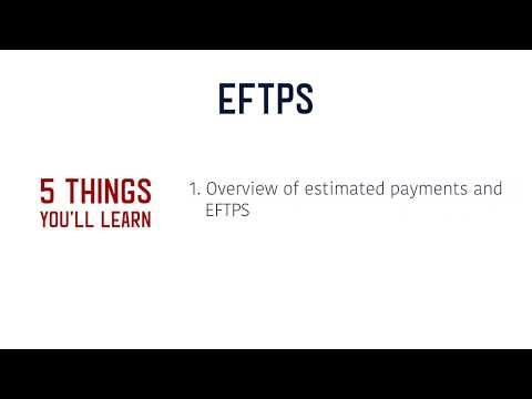 EFTPS Tutorial