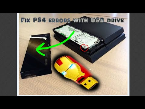 How to fix PS4 errors codes - USB update / upgrade hard drive