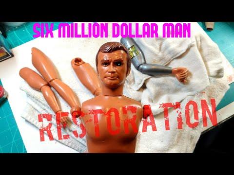 Six Million Dollar Man Bionic Grip Action Figure - Restoration