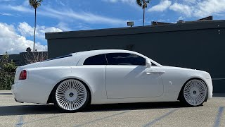 Super ALL White Rolls Royce Wraith & a Custom Vanderhall!