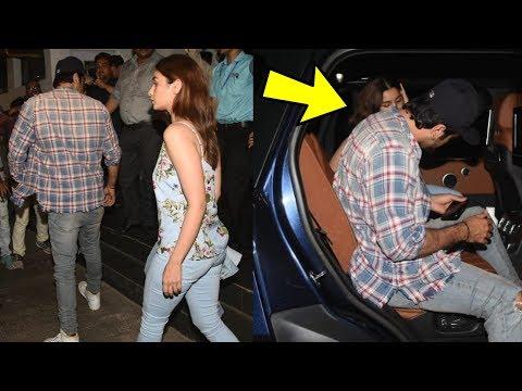 Alia Bhatt and Ranbir Kapoor look so cute together on a movie date