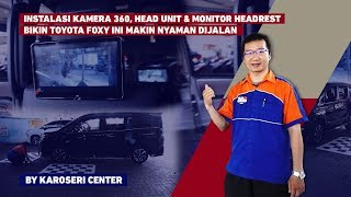 KCVLOG KAMERA 360, HEAD UNIT, MONITOR HEADREST TOYOTA VOXY