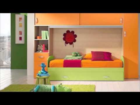 Giwa cameretta a ponte con letto e rete a doghe in legno di faggio modello aura youtube - Spalliera per letto a ponte ...