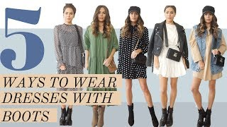 5 Ways to Wear Dresses With Boots + LOOK BOOK