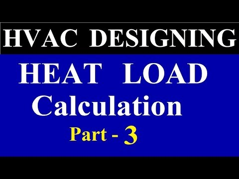 Heat Load Calculation In Hindi |  Heat Load Calculation In HVAC Part – 3
