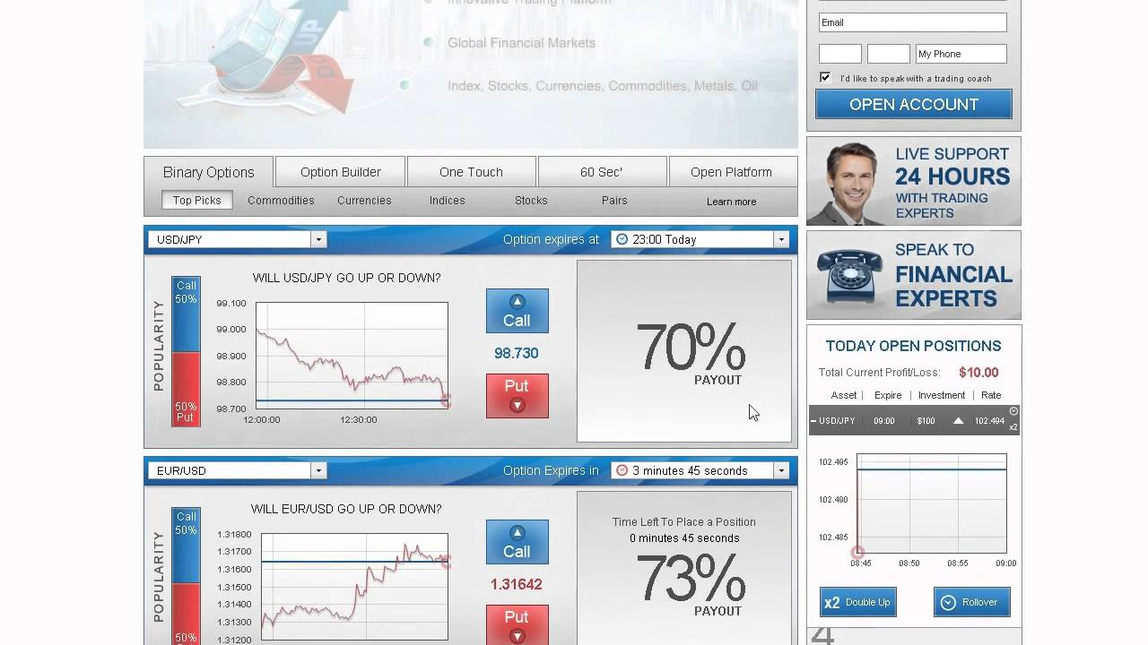 Binary options platform demo