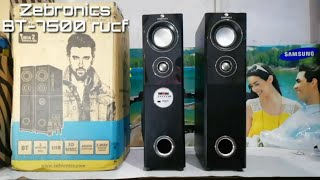 Zebronics 2.0 Tower Speakers BT-7500 rucf | Unboxing & Sound Test Review by Sarv Gyan Sampann
