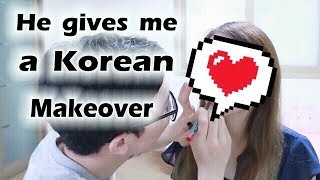 Bf Does My Makeup...KOREAN STYLE??