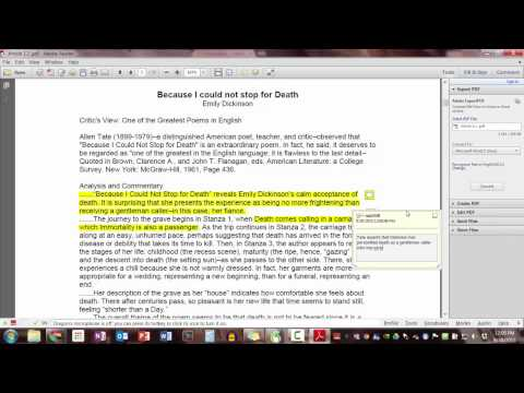 How to Annotate a PDF Article in Adobe